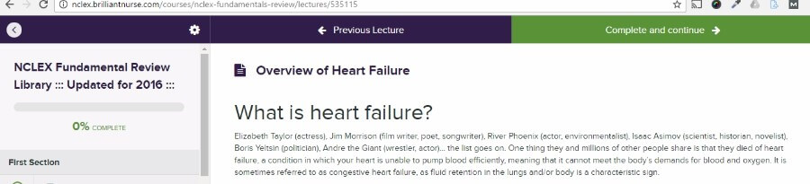 Brilliant Nurse's Heart Failure Lesson