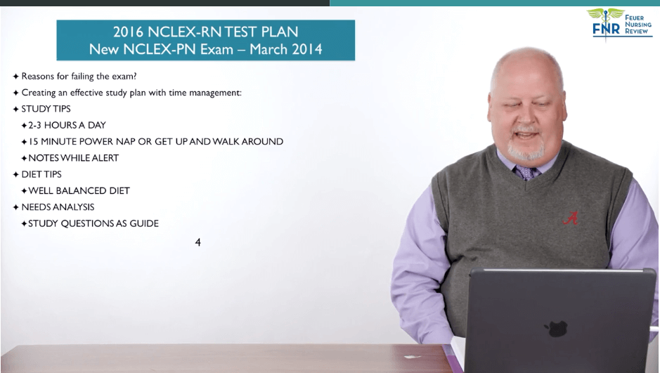 Reviewing the 2016 NCLEX Test Plan.