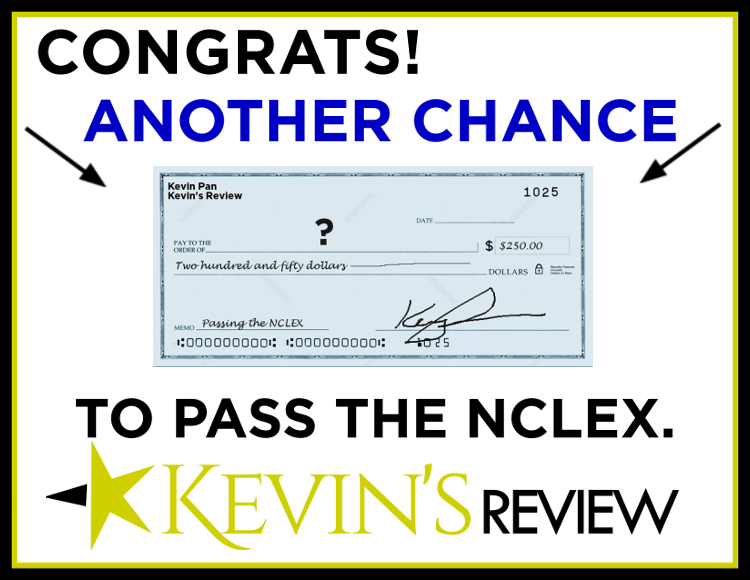 A blank check for the NCLEX assistance winner.